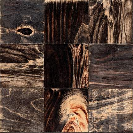 Боул 100x100. Деревянная настенная плитка на самоклеющейся основе 300x300 мм