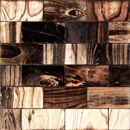 Боул 50x100. Деревянная настенная плитка на самоклеющейся основе 300x300 мм