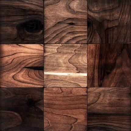 Валл 100x100. Деревянная настенная плитка на самоклеющейся основе 300x300 мм
