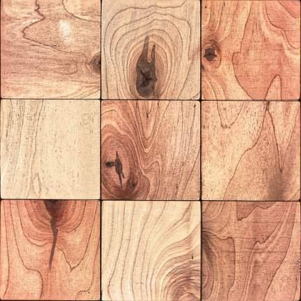 Кварт 100x100. Деревянная настенная плитка на самоклеющейся основе 300x300 мм