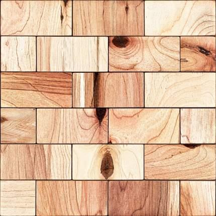 Кварт 50x100. Деревянная настенная плитка на самоклеющейся основе 300x300 мм