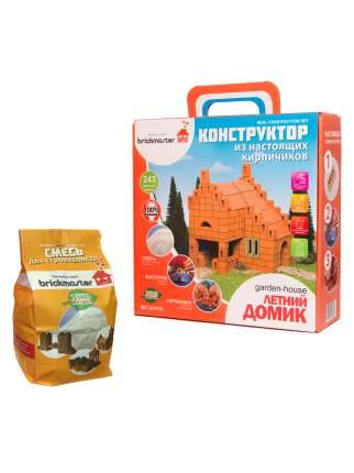 Набор для строительства Brickmaster Конструктор Летний домик + Смесь для строительства