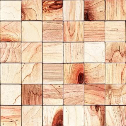 Кварт 50x50. Деревянная настенная плитка на самоклеющейся основе 300x300 мм