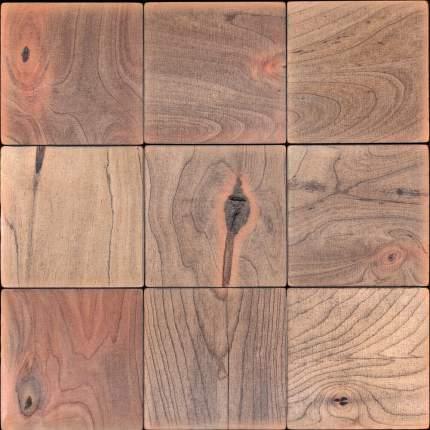 Лиддл 100x100. Деревянная настенная плитка на самоклеющейся основе 300x300 мм