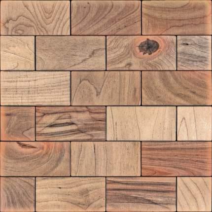 Лиддл 50x100. Деревянная настенная плитка на самоклеющейся основе 300x300 мм