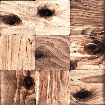 Росби 100x100. Деревянная настенная плитка на самоклеющейся основе 300x300 мм