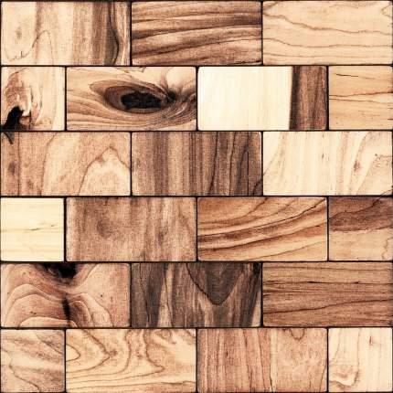 Росби 50x100. Деревянная настенная плитка на самоклеющейся основе 300x300 мм