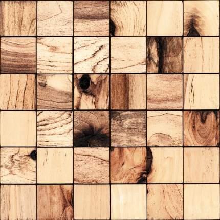 Росби 50x50. Деревянная настенная плитка на самоклеющейся основе 300x300 мм