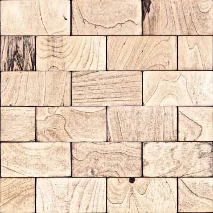 Свифт 50x100. Деревянная настенная плитка на самоклеющейся основе 300x300 мм