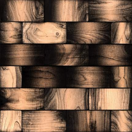 Эшфорд 50x100. Деревянная настенная плитка на самоклеющейся основе 300x300 мм