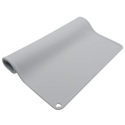 Коврик под миску для животных Nicovaer, антискользящая, серый, 31x41 см