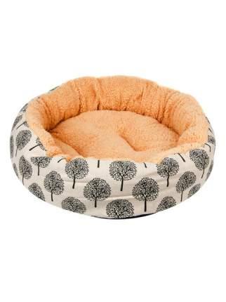 Лежанка для собаки STEFAN полиэстер 50x50x13см коричневый