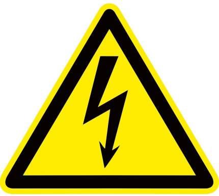 "Знак пластик ""Опасность поражения электрическим током"" W08 (100х100мм.) EKF PROxima"