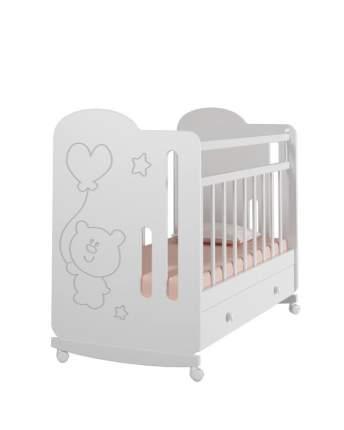 Детская кроватка VDK Sweet Bear колесо-качалка с ящиком для хранения