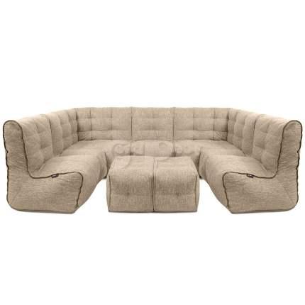 Бескаркасный модульный диван GoodPoof Мод 2L-III+ one size, рогожка, Beige Yarn