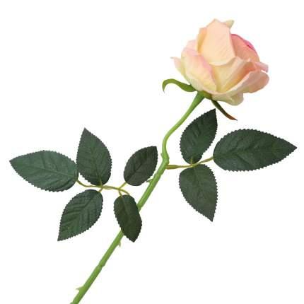 """Цветок искусственный """"Роза вельвет"""" 50см персиковый"""
