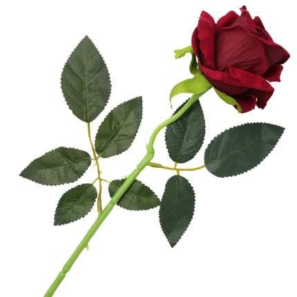 """Цветок искусственный """"Роза вельвет"""" 50см бордовый"""