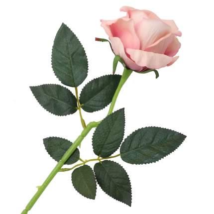"""Цветок искусственный """"Роза вельвет"""" 50см розовый"""