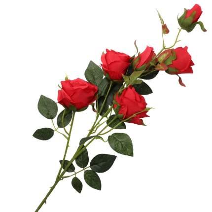"""Цветок искусственный """"Кустовая роза"""" 95см красный"""