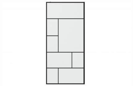 Душевая перегородка BRAVAT BLACK LINE BG090.6414B