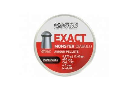 Пули для пневматики  JSB EXACT Monster Diabolo Redisigned 4,52 мм 400 шт 0,87 гр