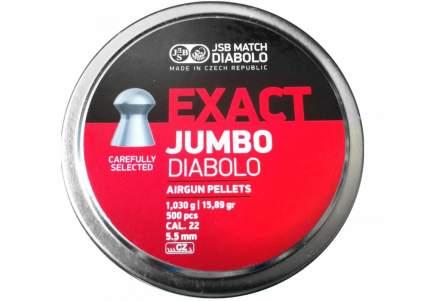 Пули для пневматики JSB EXACT Jumbo Diabolo 5,5 мм 1,03 гр 500 шт