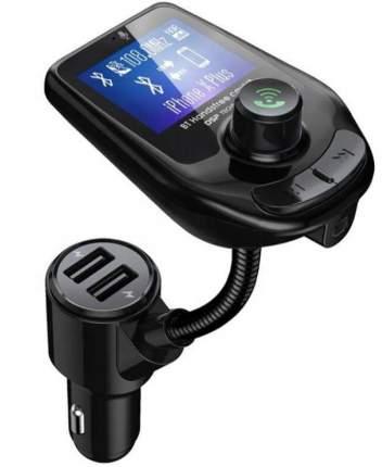 FM трансмиттер HRS D4 (Быстрая зарядка 3.0 + 2xUSB порта, Micro SD, BT 5.0) (Черный)