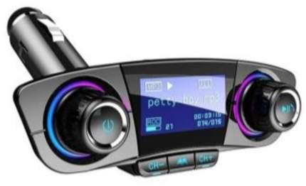 FM трансмиттер HRS BT06 (Быстрая зарядка 3.0 + 2xUSB порта, AUX разъем, BT 5.0) (Черный)