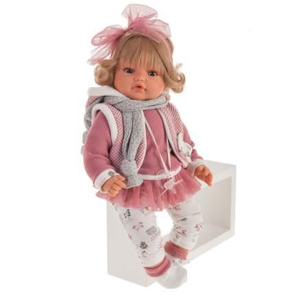 1672 Кукла Лорена в розовом, озвученная (плач), 42см