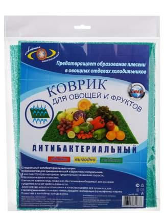 Коврик в холодильник Антибактериальный для овощей и фруктов Комфорт +, 50х30 см, зеленый