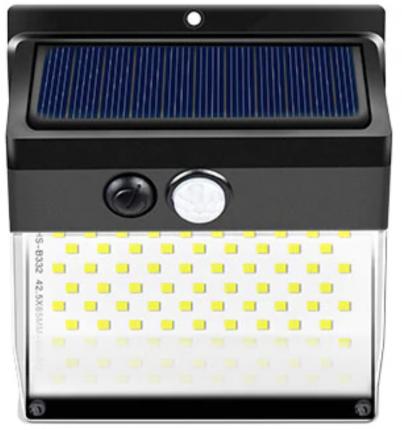 Светильники на солнечных батареях с датчиком света и движения 2шт, 172 LED ламп