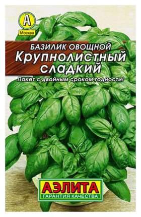 Семена зелени и пряностей Аэлита Базилик Крупнолистный сладкий