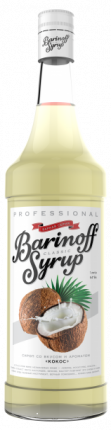 Сироп !Barinoff Кокос 1л (для кофе, коктейлей и выпечки)