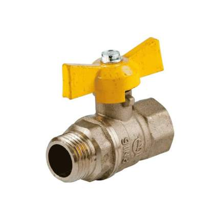 Кран шаровой латунь газ Стандарт 231 аналог 11б27п Ду15 Ру16 ВР/НР полнопрох ГАЛЛОП 116014