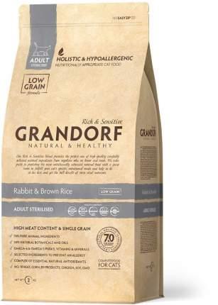 Сухой корм для кошек Grandorf Sterilised, для стерилизованных, кролик, рис,  2кг