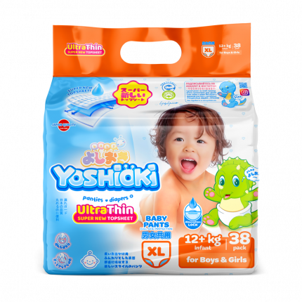Трусики-подгузники Ultra-Thin YOSHIOKI XL 12+ кг 38 шт
