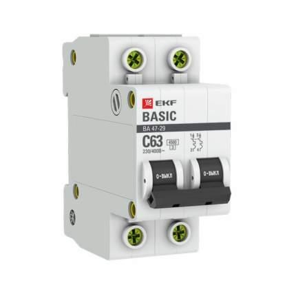 Автоматический выключатель EKF mcb4729-2-25C