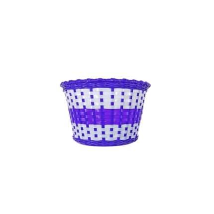 """Велокорзина 20"""" BS02-3 фиолетово-белая 270х200х170 мм"""