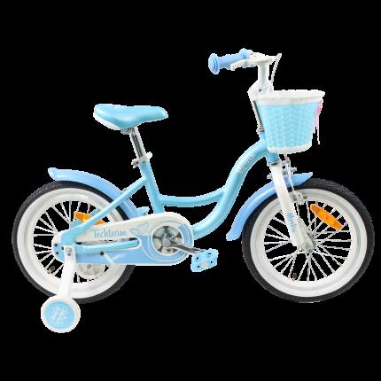 """Детский велосипед Tech Team Merlin 16"""" светло-голубой"""