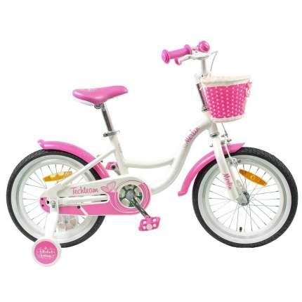 """Детский велосипед Tech Team Merlin 16"""" бело-розовый"""