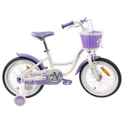 """Детский велосипед Tech Team Merlin 20"""" бело-пурпурный"""