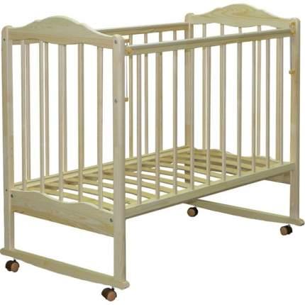 Кровать детская СКВ-2 (автостенка,колеса,качалка,накладка ПВХ) береза