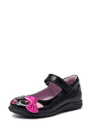 Туфли для девочек Lovely Puppy, цв. чёрный, розовый, р-р 26