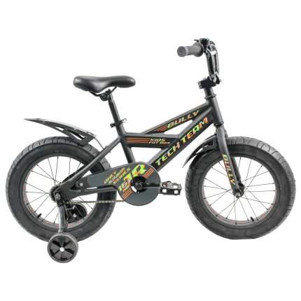 """Детский велосипед Фэтбайк Tech Team Bully 16"""" черный"""