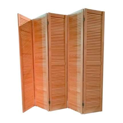 Ширма деревянная жалюзийная ДваДома 5 секционная, Размер 150х250 см (Секция 50 см)