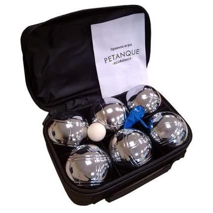 Игровой набор EcoBalance Петанк серебряный