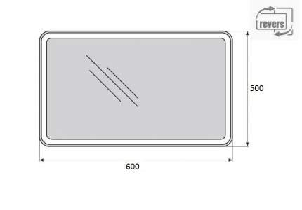 Зеркало для ванной Belbagno SPC-MAR-500-600-LED-TCH