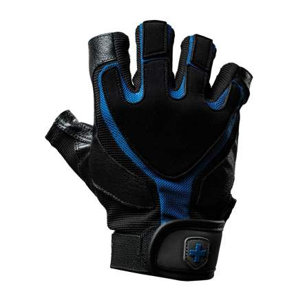 Перчатки атлетические Harbinger Training Grip®, black/blue, 8,5/L