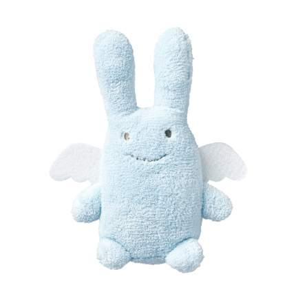 Игрушка мягкая Зайка с крылышками, 18 см. голубой