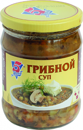 Суп 5 Морей грибной 500мл